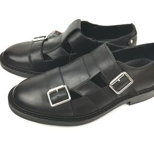 Zara Man Slip On Comfy Open Leather Buckle Shoes 7